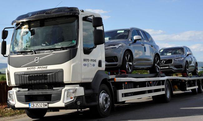 Два автовоза Volvo FL за Мото Пфое