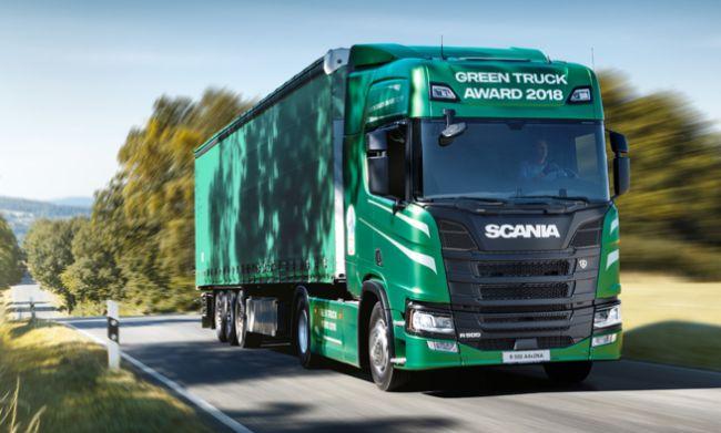 Scania със специален модел Green Truck Award 2018