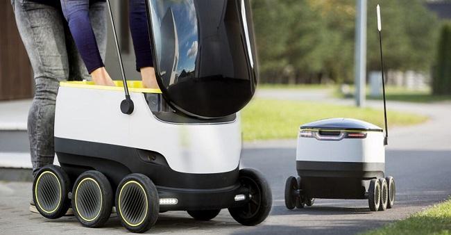 Роботи на Starship Technologies доставят до врата