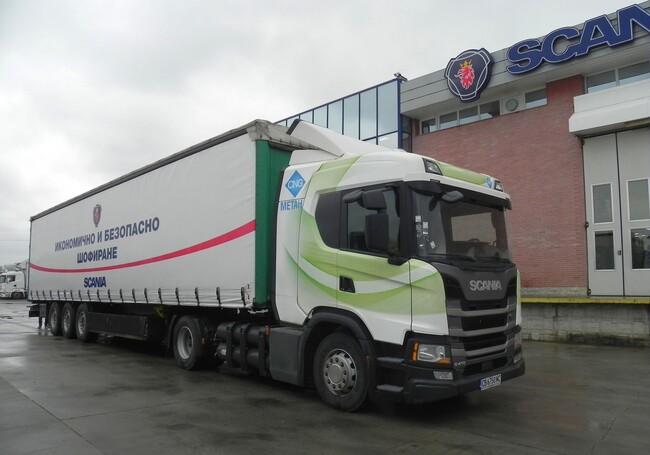Тест на Scania G 410 CNG Next Generation, проведен от сп. КАМИОНИ (видео)