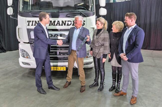 DAF CF Electric за Tinie Manders Transport