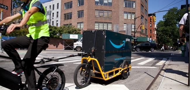 Amazon, DHL и UPS тестват товарни велосипеди