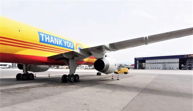 Специалният самолет DHL Express кацна в София