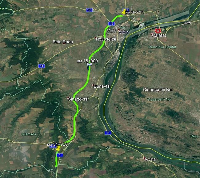 Напредва строителството на пътя между Видин и п. в. Макреш