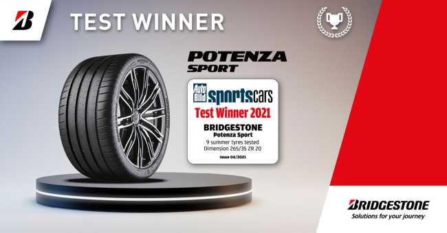 Bridgestone Potenza Sport спечели тест за спортни гуми