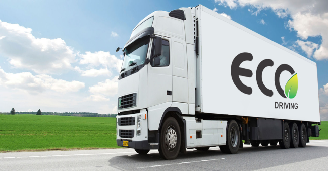 Промоция на дисплей за еко шофиране от Frotcom България