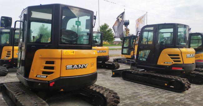 Новите мини багери SANY вече и в България